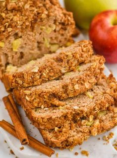 This Apple Bread is absolutely delicious. Easy and the perfect mix of spices with a delicious streusel topping, you will make this amazing apple cinnamon bread all fall. Apple Cinnamon Bread, Apple Bread, Cinnamon Apples, Red Wine Chocolate Cake, Chocolate Raspberry Cake, Pineapple Rum Drinks, Raspberry Buttercream Frosting, Sweet Red Wines, Best Cake Recipes