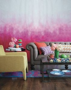 Pink Friday - Crafts and interior design tips Ombre walls