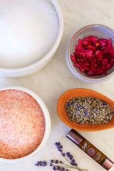 DIY Bath Salts  All you need. 5 ingredients. Affordable and easy to make!