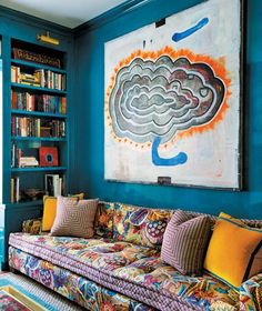 Tilton-Fenwick Injects Color into a Former Art Studio / domainehome.com #color #pattern #bold