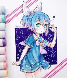 Sailor Pairy. #pairyocbyibu_chuan #copicmarkers #copicsketc #copicciao #kawaii #cute #seifuku #stars