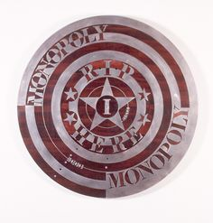 bob jahnke  Monopoly (1995)  Stainless steel, wood  1000mm diameter Jah Rastafari, Monopoly, Bob, Stainless Steel, Paintings, Culture, Artists, Contemporary, Maori
