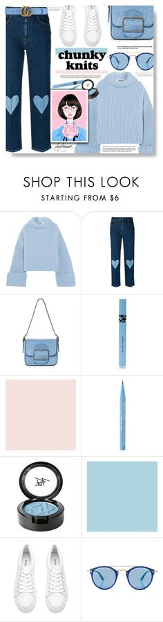 """Chunky Sweaters"" by chocolate-addicted-angel ❤ liked on Polyvore featuring Jil Sander, STELLA McCARTNEY, Tory Burch, COOLA Suncare, Farrow & Ball, Too Faced Cosmetics, Beauty Is Life, H&M, Oliver Peoples and Gucci"