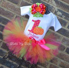 Little Pumpkin Birthday Tutu Outfit Hot Pink by TickleMyTutu, $54.95