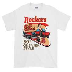 Rockers Old School Fifties Greaser Style Short Sleeve T-shirt