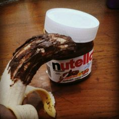Banana with Nutella