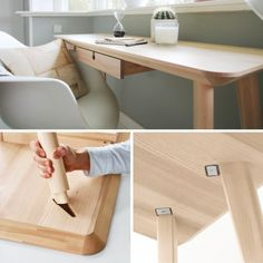 Clever knockdown joint from Ikea.