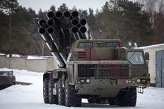 ARMY Smerch Multiple Launch Rocket System of Russian Military