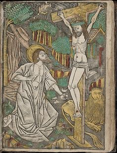 Metalcut - Album with Twelve Engravings of The Passion, a Woodcut of Christ as the Man of Sorrows, and a Metalcut of St. Jerome in Penitence
