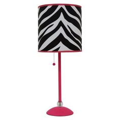 Tween's room: Zebra Print Shade Table Lamp
