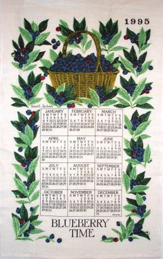 Vintage Calendar Dish Towel by zizzybob on Etsy, $10.00