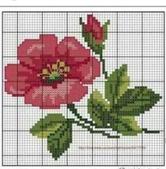 Cross Stitch Cards, Cross Stitch Rose, Cross Stitch Borders, Cross Stitch Flowers, Cross Stitching, Cross Stitch Patterns, Embroidery Art, Cross Stitch Embroidery, Embroidery Patterns
