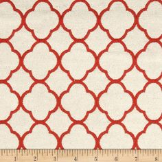 P Kaufmann Poem Jacquard Ladybug Red from @fabricdotcom  Refresh and modernize an old piece of furniture and update it with a new look. This heavyweight jacquard fabric is appropriate for some window treatments, accent pillows, upholstering furniture, headboards and ottomans. Colors include red and ivory.