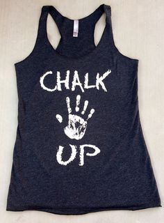 Chalk Up triblend racerback tank. Women's Workout Tank. Crossfit Tank Top. Exercise Tank Top. Running Tank. Fitness Tank Too