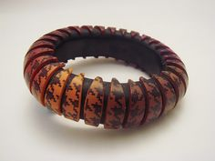 Polymer Clay Bangle - Side A by Carina's Photos and Polymer Clay, via Flickr
