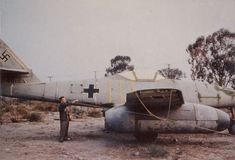 "Me 262 ""Ok dudes, is that red ""X"" the aussie 262? Looks a lot like gum trees in the background."" KB"
