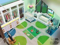 Decoración cuarto de bebé - The Sims FreePlay Sims Free Play, The Sims, Build House, Building A House, Baby Boy Rooms, Baby Room, Sims Freeplay Houses, Sims Baby, Sims House Plans