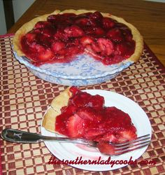 FRESH STRAWBERRY PIE, made a similar recipe before but sans food colouring. So good