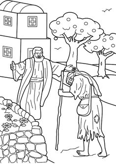 Prodigal Son Comes Home Bible Coloring Page