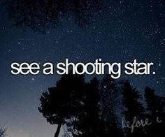 DONE. See a shooting star. Summer Bucket List.