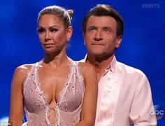 Dancing With the Stars  -  Robert Herjavec & pro partner Kym Johnson were the 1st couple to be eliminated in week-8's double elimination. The 2nd couple were Chris Soules & his pro-partner Witney  -  Season 20  -  spring 2015