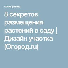 8 секретов размещения растений в саду | Дизайн участка (Огород.ru)