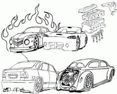 desenhos de carros para colorir e montar