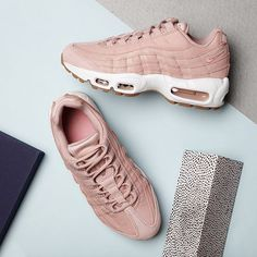 AIR MAX 95 LOVE!  The Air Max 95 gets a cool rework in this premium edition. Inspired by the human body, The midsole represents the spine, overlay panels are the muscles while the Pink leather upper is it's skin. Air-max inserts deliver iconic cushioning while woven branding completes the look. Now available online at nakedcph.com  Available now!  #SupplyingGirlsWithSneakers