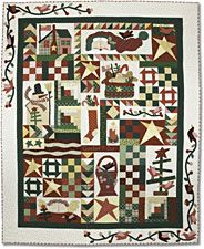 Comfort and Joy (Silver Thimble Quilt Co. designers Pat Wys and BJ Laird. Quilted by Leisa Wiggley.
