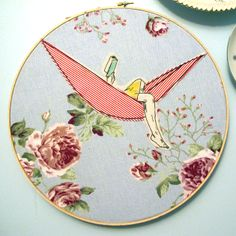 An embroidery project each day.  This one is so simple, but so lovely...