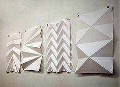 Paper Art Diy Kirigami Beautiful Ideas For 2019 Origami Design, Origami Paper, Origami Wall Art, Easy Origami, Origami Folding, Kirigami, Folding Architecture, Architecture Design, Paper Structure