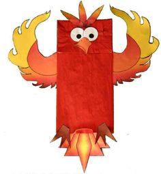 Phoenix Paper Bag Puppet