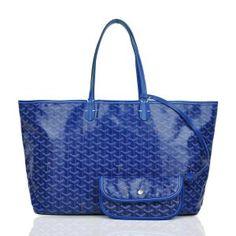 Sac Goyard St. Louis GY308 Bleu 1.Marque  : goyard 2.Style  : Goyard St. Louis 3.couleurs :Bleu 4.Matériel :PVC avec cuir 5.Taille: L40 x H30x W15 cm