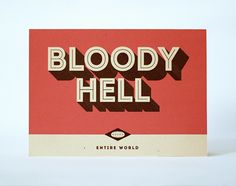 Entire World Phrase Cards by Austin Gray, via Behance