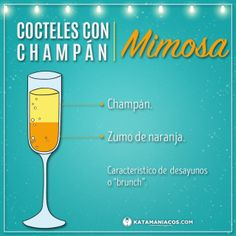 Los cocteles de la champagne. Sangria Wine, Wine Drinks, Cocktail Drinks, Cocktail Recipes, Alcoholic Drinks, Beverages, Comida Diy, Happy Drink, Keto Cocktails
