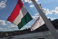 The @Viking Cruises #longships flag flying over the Danube at Budapest