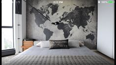 Awesome back drop in bedroom