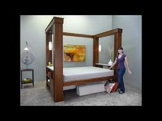 Double Space Bed: Aug. 2010  --  A counter-weighted bed that can have anything below, then the bed goes up and down with a light touch.  I plan on putting it in the far end of my TH and using it as both a ground floor bedroom and dining area.