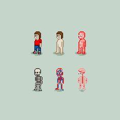 #pixel art anatomia