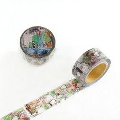 Camil garden Green washi tape x washi masking tape Tapas, How To Make Scrapbook, Masking Tape, Washi Tapes, Agenda Planner, Digital Journal, Stationery Paper, Stencils, Mixed Media