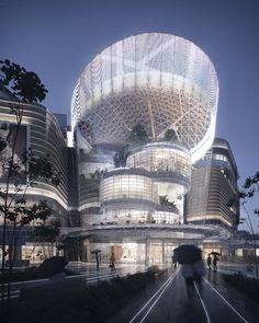 Public Architecture, Architecture Awards, Commercial Architecture, Futuristic Architecture, Architecture Photo, Amazing Architecture, Landscape Architecture, Nendo Design, Mall Design