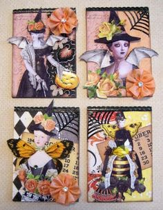 Designs By Terri Gordon: MY HALLOWEEN ATC CARDS