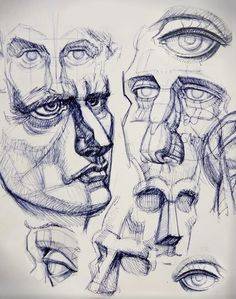 Eyes and noses studies.Sketches on #Moleskine.  Takes from #Burne Hogarth book.