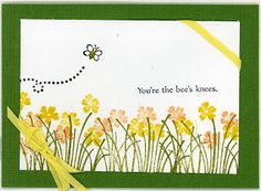 Ballpoint Bliss: Bee's Knees  Cute, Cute, Cute! This is a great show your support card.