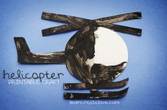 { Printable Helicopter Craft }