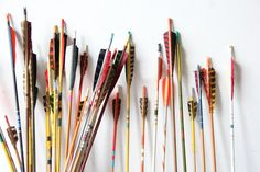 Collection of Vintage Archery Arrows Set of 5 by GallivantingGirls