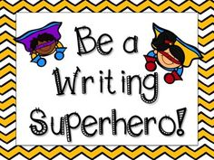 "Teach your students to write like superheroes with these inspiring posters!Includes:- ""Be a Writing Superhero"" title page- ""POW"" writing poster for SRSD- ""TIDE"" writing poster for Narrative and Informative/Explanatory Mode- ""TIRE"" and ""TREE"" writing posters for Opinion Mode- ""SWAG"" poster - for editing- 3 Punctuation posters (including Mr."
