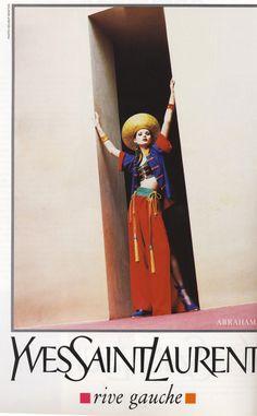 1995 - YSL Rive Gauche ad - Kate Moss by Helmut Newton