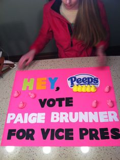 Paige's Student council elections poster Vice President