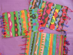 Third graders have also been learning about art from India. They looked at examples of dhurrie rugs and created their own with cut paper an...